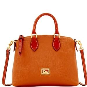 DOONEY & BOURKE CROSSBODY BAG - TAN PEBBLED LEATHE